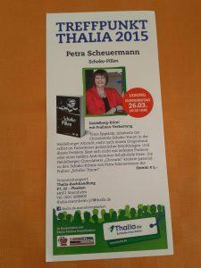 Premierenlesung aus SCHOKO-PILLEN bei Thalia